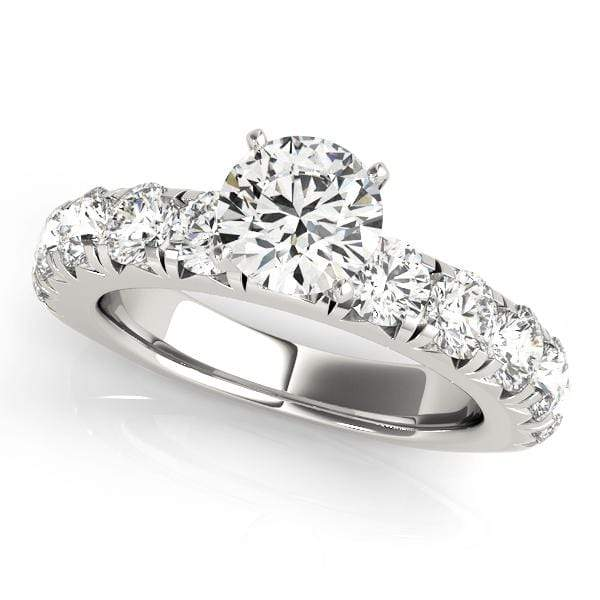 Engagement Rings .13 / 14kt / White Engagement Rings Single Row Prong Set angelucci-jewelry