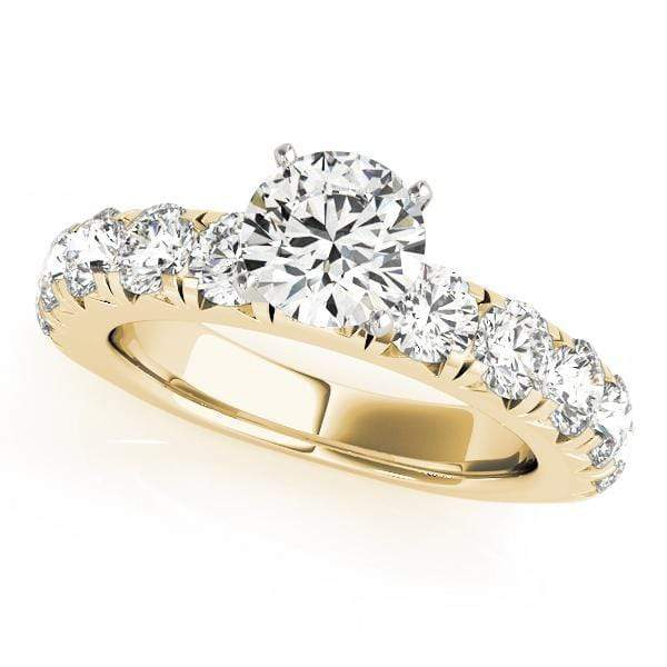 Engagement Rings .13 / 14kt / Yellow Engagement Rings Single Row Prong Set angelucci-jewelry