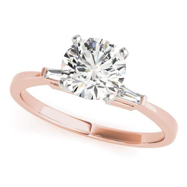 Engagement Rings 14kt / Pink Engagement Rings 3 Stone Baguette angelucci-jewelry