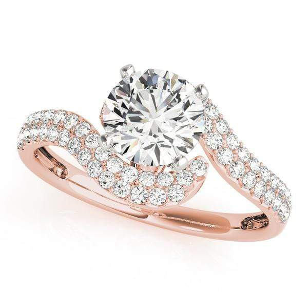Engagement Rings 14kt / Pink Engagement Rings Bypass angelucci-jewelry