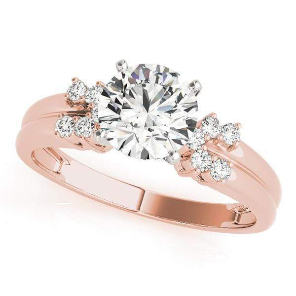 Engagement Rings 14kt / Pink Engagement Rings Cluster Sides angelucci-jewelry