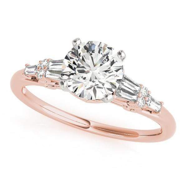 Engagement Rings 14kt / Pink Engagement Rings Fancy Shape Baguette angelucci-jewelry