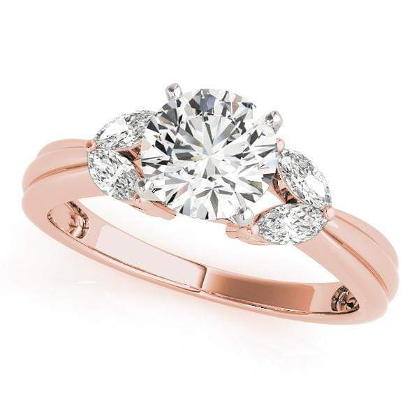 Engagement Rings 14kt / Pink Engagement Rings Fancy Shape Marquise angelucci-jewelry
