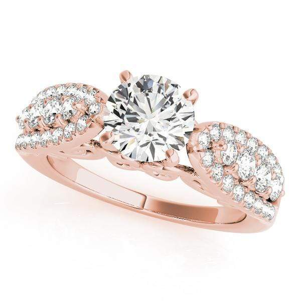 Engagement Rings 14kt / Pink Engagement Rings MultiRow angelucci-jewelry
