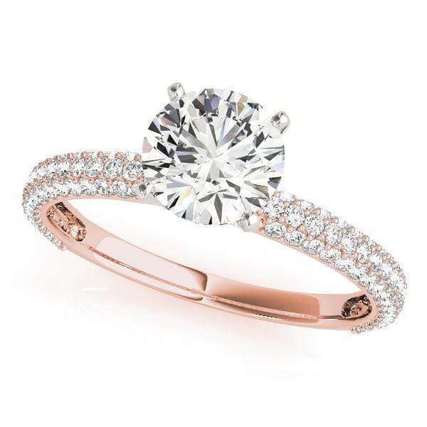 Engagement Rings 14kt / Pink Engagement Rings Pave angelucci-jewelry