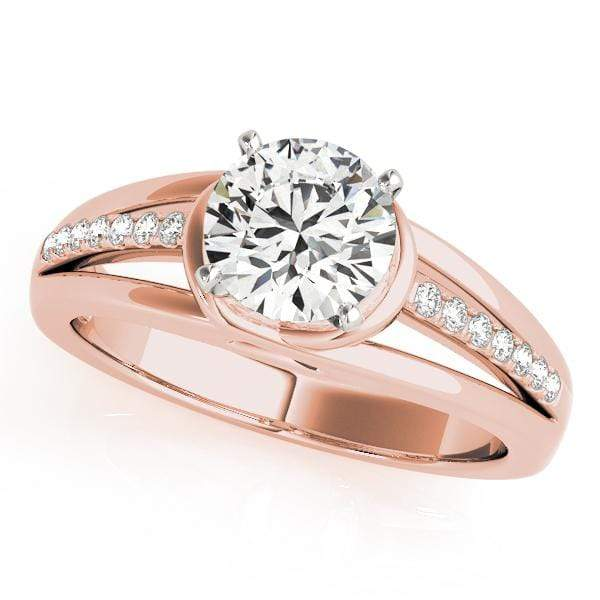 Engagement Rings 14kt / Pink Engagement Rings Single Row Prong Set angelucci-jewelry