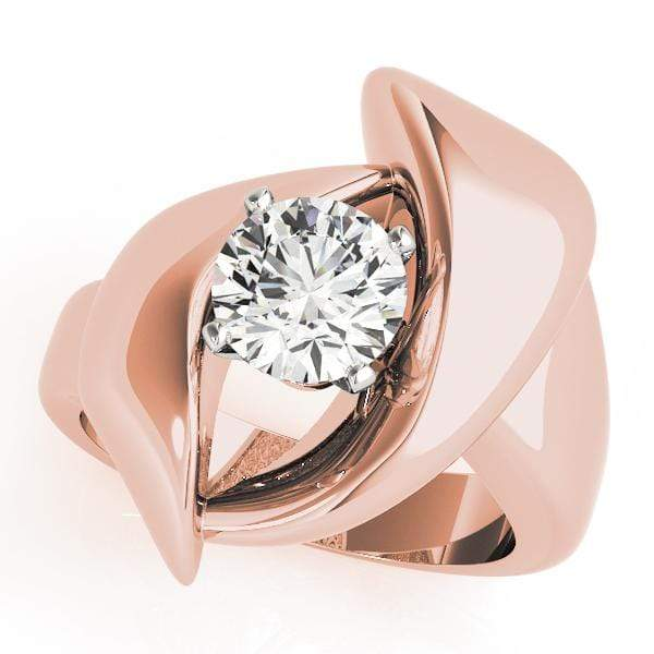 Engagement Rings 14kt / Pink Engagement Rings Solitaires Any Shape angelucci-jewelry