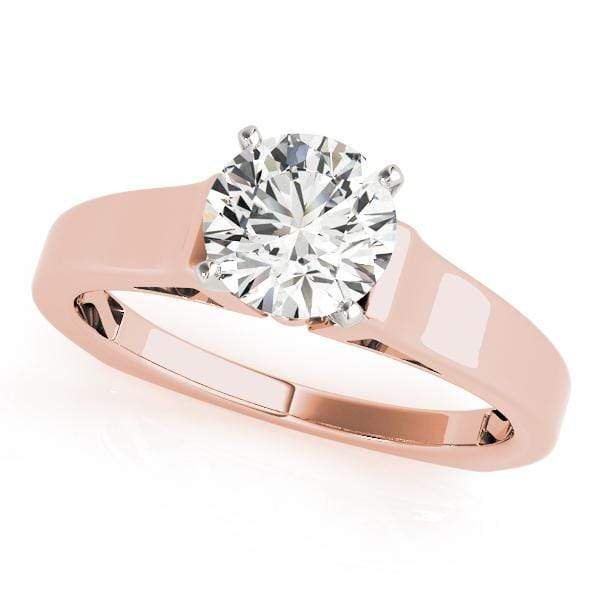 Engagement Rings 14kt / Pink Engagement Rings Solitaires Peg Head Mounts (any shape center) angelucci-jewelry