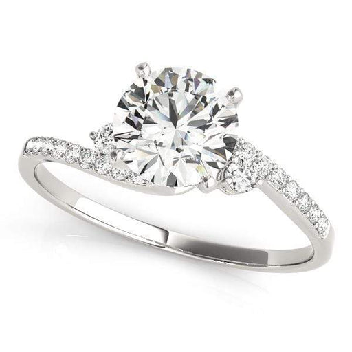 angelucci-jewelry-3-Stone Round Brilliant Shape 2-Tone Bypass Diamond Engagement Ring