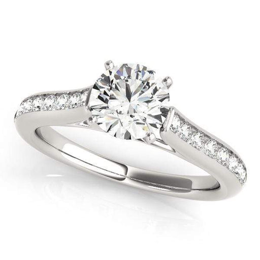 Angelucci-jewelry Round Shape 14-Karat Single Row Channel Set Diamond Engagement Ring