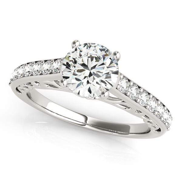 Engagement Rings 14kt / White Engagement Rings Single Row Prong Set angelucci-jewelry