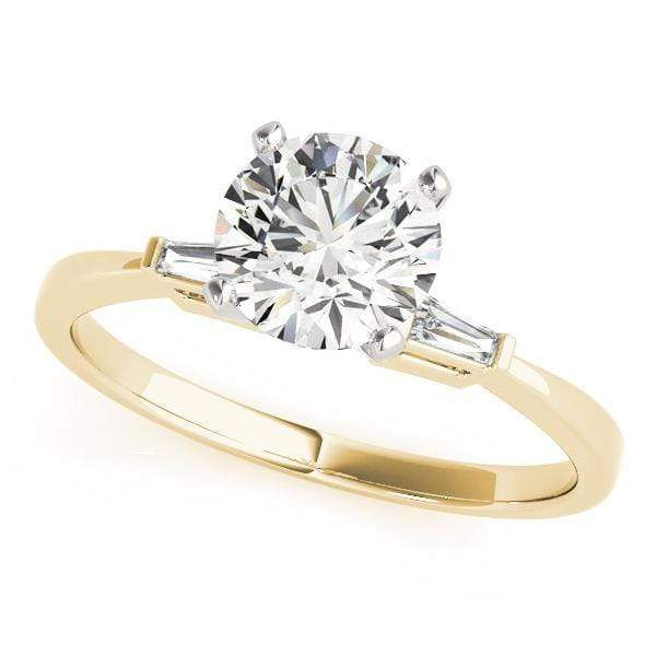 Engagement Rings 14kt / Yellow Engagement Rings 3 Stone Baguette angelucci-jewelry