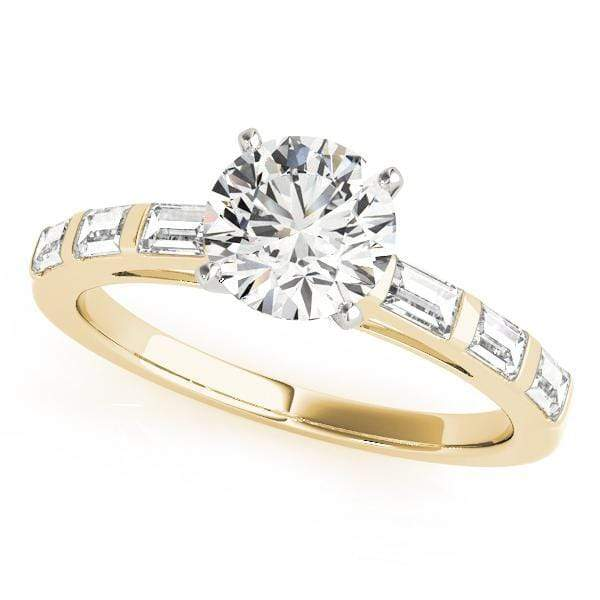 Engagement Rings 14kt / Yellow Engagement Rings Fancy Shape Baguette angelucci-jewelry