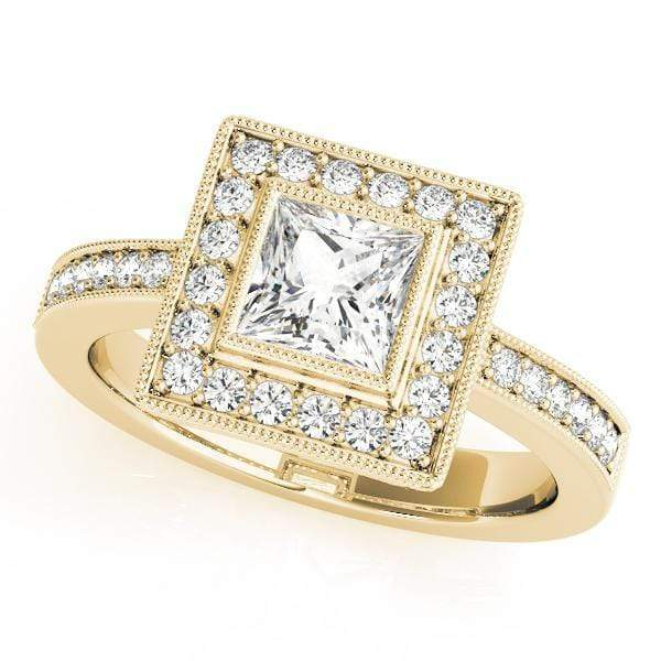 Engagement Rings 14kt / Yellow Engagement Rings Halo Square & Cushion angelucci-jewelry