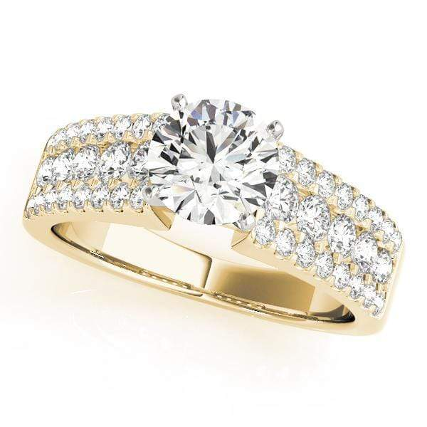 Engagement Rings 14kt / Yellow Engagement Rings MultiRow angelucci-jewelry