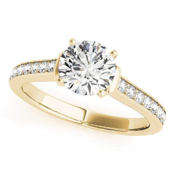 Engagement Rings 14kt / Yellow Engagement Rings Single Row Prong Set angelucci-jewelry