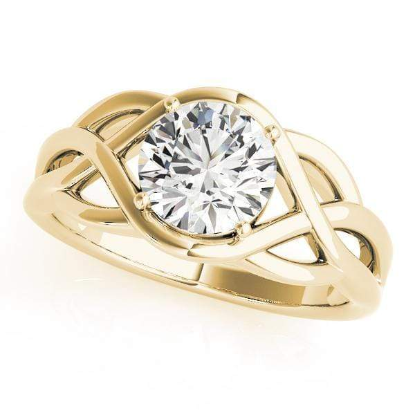 Engagement Rings 14kt / Yellow Engagement Rings Solitaires Any Shape angelucci-jewelry