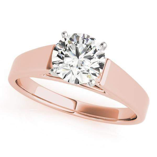 Engagement Rings 2 / 14kt / Pink Engagement Rings Solitaires Peg Head Mounts (any shape center) angelucci-jewelry