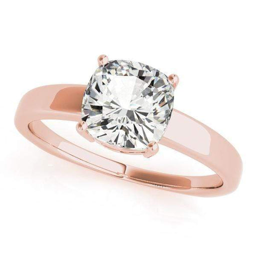 angelucci-jewelry-Cushion Shape 14-Karat Solitaire Diamond Engagement Ring