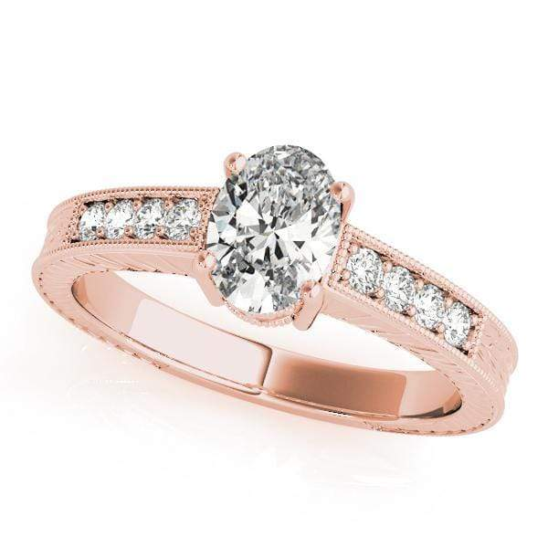 Engagement Rings 6X4 / 14kt / Pink Engagement Rings Single Row Prong Set angelucci-jewelry
