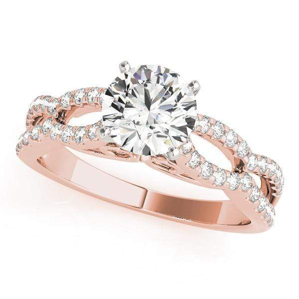 Engagement Rings A / 14kt / Pink Engagement Rings MultiRow angelucci-jewelry