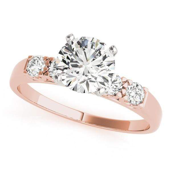 Engagement Rings A / 14kt / Pink Engagement Rings Single Row Prong Set angelucci-jewelry