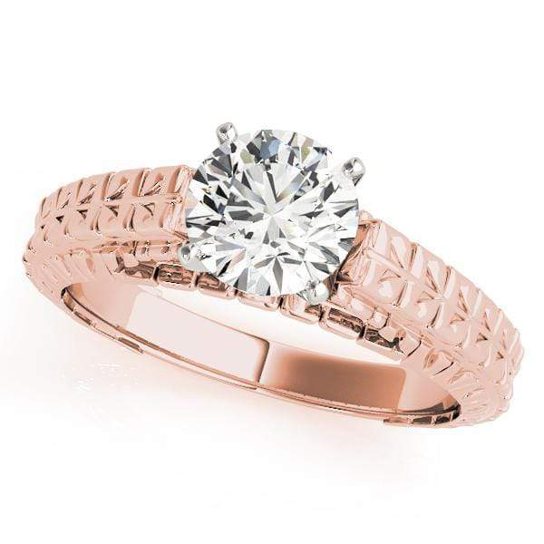 Engagement Rings A / 14kt / Pink Engagement Rings Solitaires Peg Head Mounts (any shape center) angelucci-jewelry