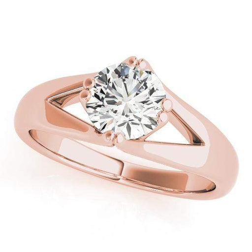Engagement Rings A / 14kt / Pink Engagement Rings Solitaires Round angelucci-jewelry