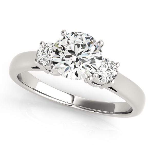 angelucci-jewelry-3 Stone Round Brilliant Shape 2-Tone Prong Set Diamond Engagement Ring