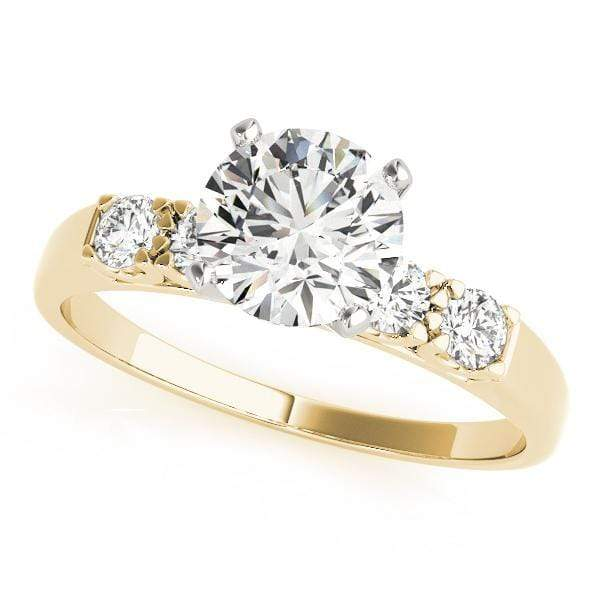 Engagement Rings A / 14kt / Yellow Engagement Rings Single Row Prong Set angelucci-jewelry