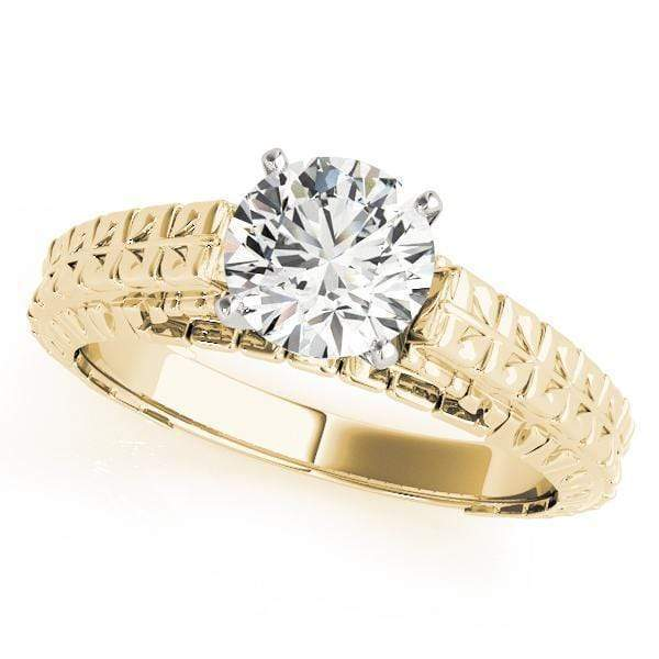 Engagement Rings A / 14kt / Yellow Engagement Rings Solitaires Peg Head Mounts (any shape center) angelucci-jewelry