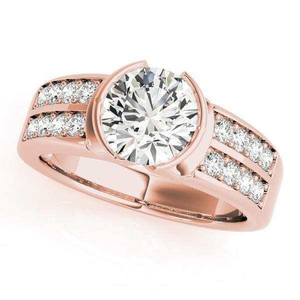 Engagement Rings B / 14kt / Pink Engagement Rings Pave angelucci-jewelry