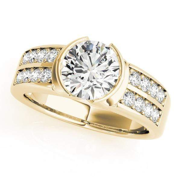 Engagement Rings B / 14kt / Yellow Engagement Rings Pave angelucci-jewelry