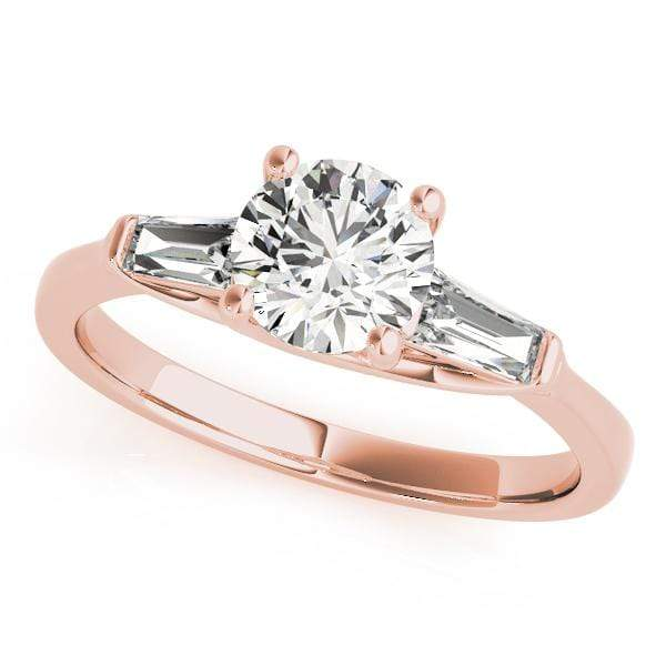 Engagement Rings C / 14kt / Pink Engagement Rings Fancy Shape Baguette angelucci-jewelry
