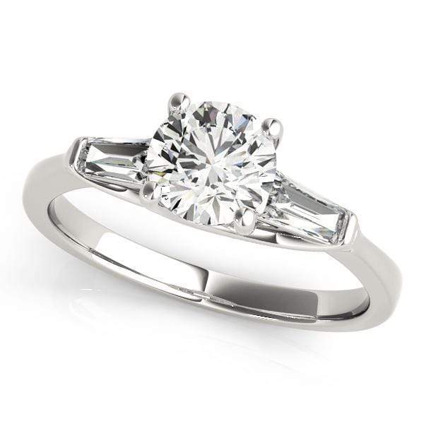 Engagement Rings C / 14kt / White Engagement Rings Fancy Shape Baguette angelucci-jewelry