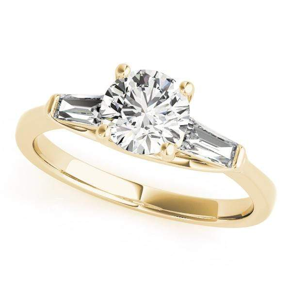 Engagement Rings C / 14kt / Yellow Engagement Rings Fancy Shape Baguette angelucci-jewelry
