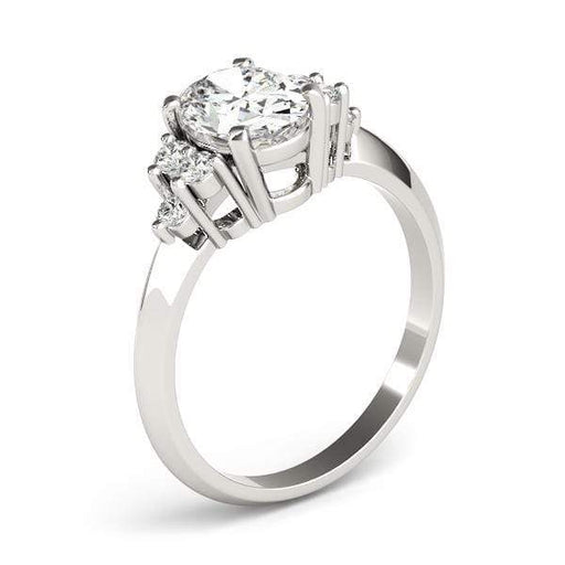 angelucci-jewelry-Modern Oval Shape 14-Karat Solitaire Diamond Engagement Ring with Knife Edge