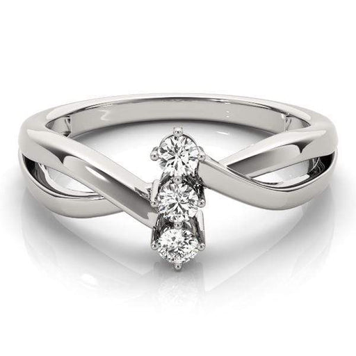 angelucci-jewelry-North-South Set 3 Stone Round Brilliant Shape 14-Karat Infinity Split-Shank Diamond Engagement Ring