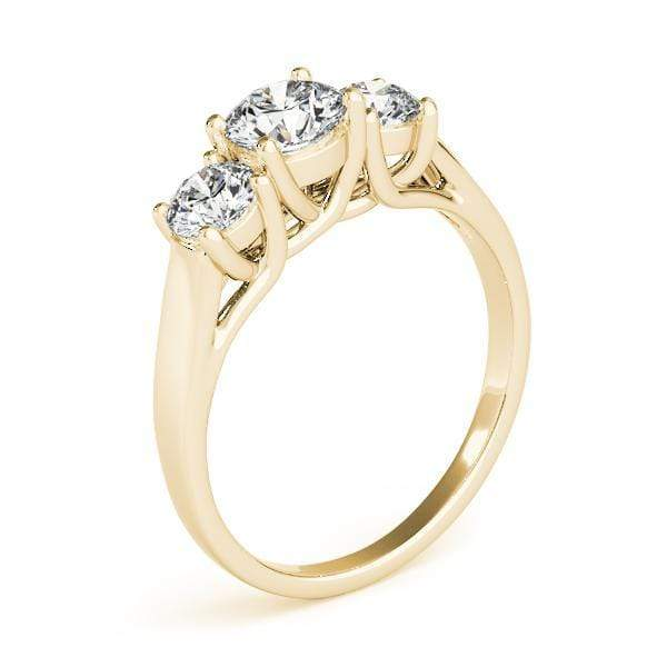 angelucci-jewelry-3-Stone Round Brilliant Shape 14-Karat Trellis Diamond Engagement Ring