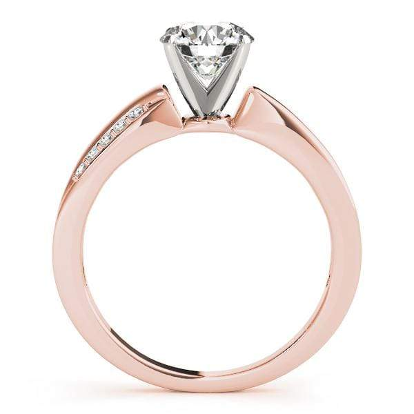 angelucci-jewelry-Round Shape 14-Karat Bypass Solitaire Diamond Engagement Ring with White-Gold Prong Setting