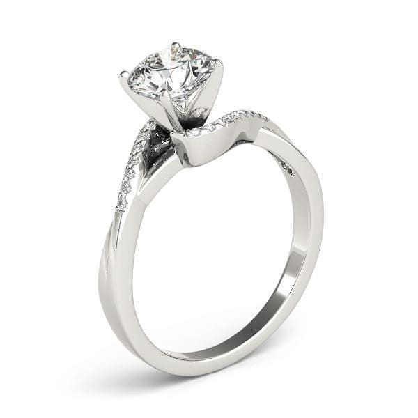 Angelucci-jewelry Round Brilliant Shape 14-Karat Twisted Shank Bypass Diamond Engagement Ring