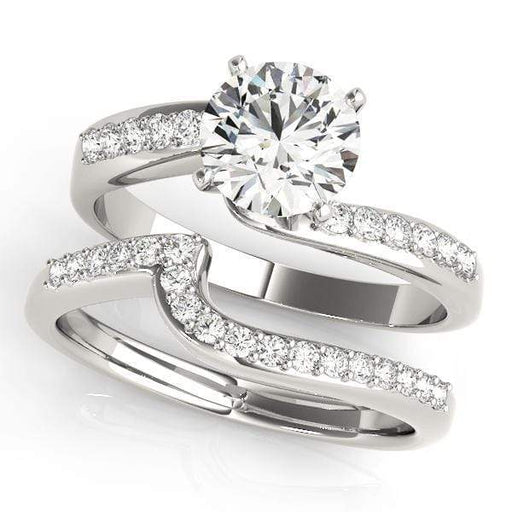 angelucci-jewelry-Round Brilliant Shape  14-Karat 2-Tone Bypass Solitaire Diamond Engagement Ring