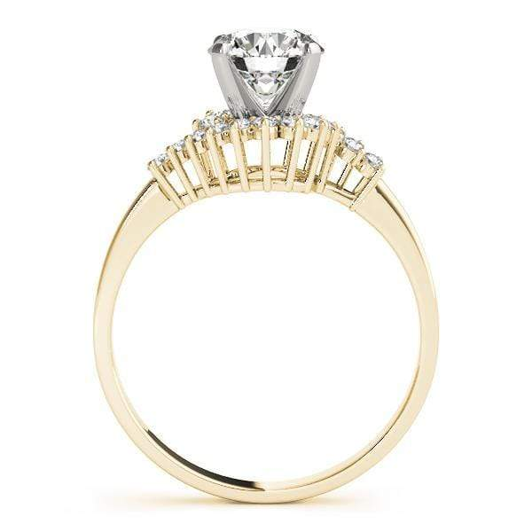 angelucci-jewelry-Round Brilliant Shape Bypass Diamond Engagement Ring with White Gold Prong Setting