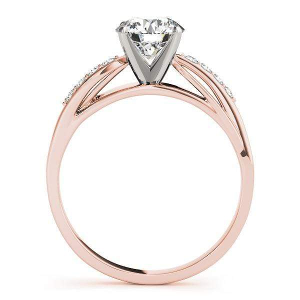 angelucci-jewelry-Round Brilliant Shape Split-Shank 2-Tone Prong Set Solitaire Diamond Engagement Ring