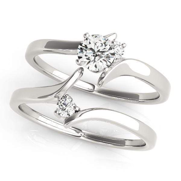 angelucci-jewelry-Round Shape 14-Karat 2-Tone Bypass Solitaire Diamond Engagement Ring