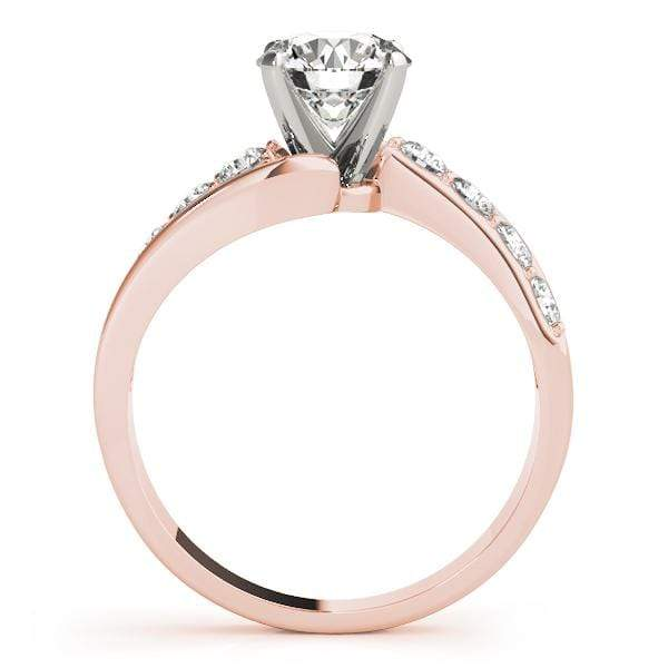 angelucci-jewelry-Round Brilliant Shape 2-Tone Prong-Set Bypass Solitaire Diamond Engagement Ring
