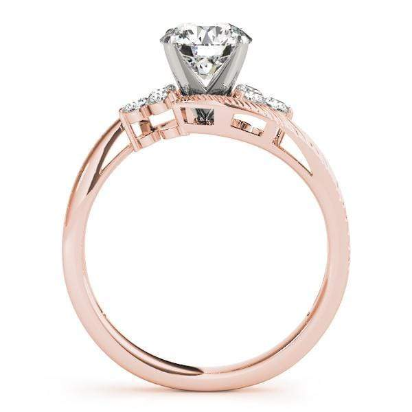 angelucci-jewelry-Round Brilliant Shape 2-Tone Bypass Diamond Engagement Ring Etched Band