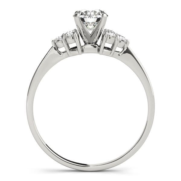 angelucci-jewelry-Petite Round Brilliant Shape 14-Karat 2-Tone Diamond Engagement Ring with Cluster-Set Side Diamonds