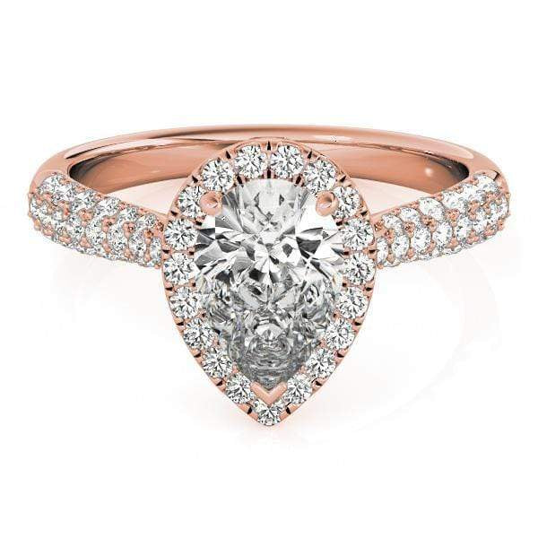 Engagement Rings Engagement Rings Halo Pear & Trillion angelucci-jewelry