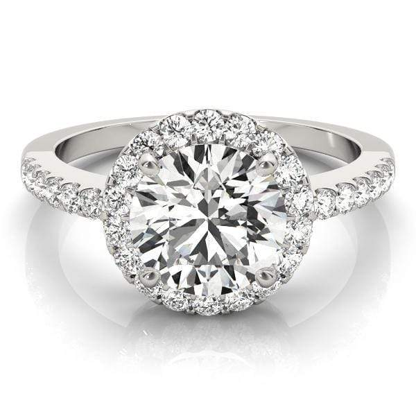 2 Carat Round Brilliant Halo Diamond Engagement RIng-Angelucci-Jewelry